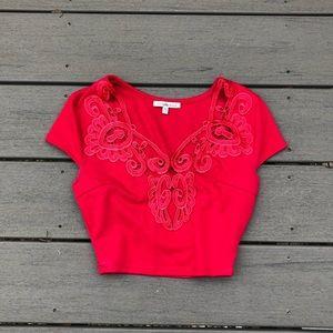 Charlotte Russe Red Crop Top